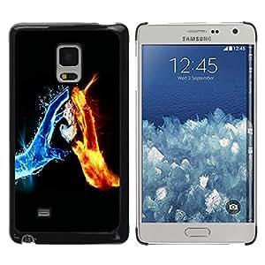 Paccase / SLIM PC / Aliminium Casa Carcasa Funda Case Cover para - Water & Fire Elements - Samsung Galaxy Mega 5.8 9150 9152