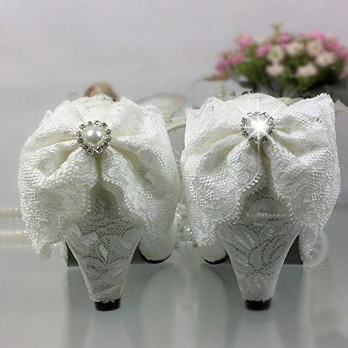 Shoes Sandals Diamond With Flower Mouth Wedding Shoes Princess Lace Work Pearl VIVIOO 8 Shallow Bride Wedding Female Crystal White Prom ROvxw