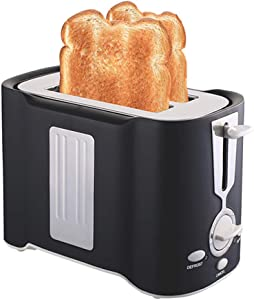 YUI Toaster 2 Slice Countertop Wide Slot, Retro Small Toaster, Cancel, Defrost Function, Extra Wide Slot Compact Stainless Steel Toasters for Bread Waffles