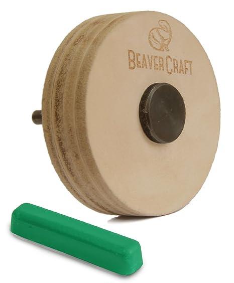 BeaverCraft PW1 Sharpening Wheel Stropping 3