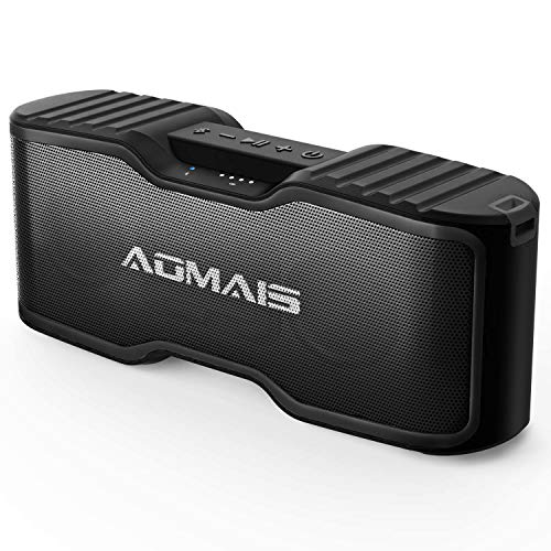AOMAIS Sport II+ Bluetooth Speakers, Portable Outdoor Wireless Speaker, 30H Playtime, 20W HD Stereo Sound & Richer Bass, IPX7 Waterproof, 100ft Bluetooth for Travel, Party, Beach【2019 Upgrade】-Black