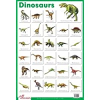 Dinosaurs - Thick Laminated Primary Chart
