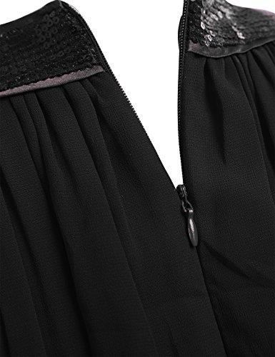 Tiaobug Damen Elegant Festlich Chiffon Sommer Kleid Partykleid ...