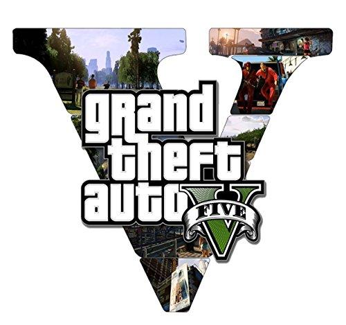 GTA V GTA 5 Grand Theft Auto 5 Rockstar Jogos Games Logo T-shirt -543