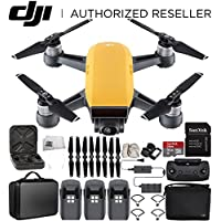 DJI Spark Portable Mini Drone Quadcopter Fly More Combo Portable Bag Shoulder Travel Case Bundle With Extra Battery (Sunrise Yellow)