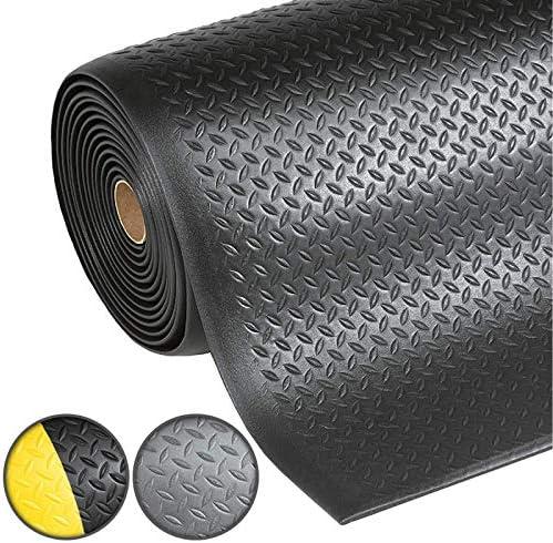 Diamantstruktur Schwarz-Gelb Warnstreifen Anti-Erm/üdungsmatte Dyna-Protect Diamond Arbeitsplatzmatte 90x150 cm