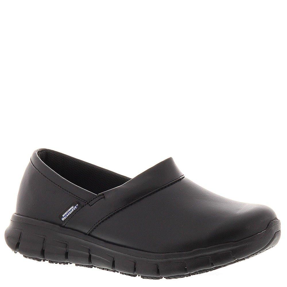 Skechers for Work Women's Relaxed Fit Slip Resistant Work Shoe, Black, 7 M US