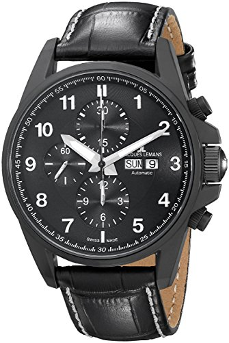 Jacques-Lemans-Mens-1-1750C-Liverpool-Automatic-Analog-Display-Swiss-Automatic-Black-Watch