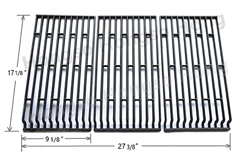 Hongso PCE693 Cast Iron Cooking Grid Replacement for Fiesta Blue Ember, Blue Ember FG50069LP, Blue Ember FG50069NG, FG500057-103, FG50057-703NG, FG50069 Gas Grill Models, Set of 3 by Hongso