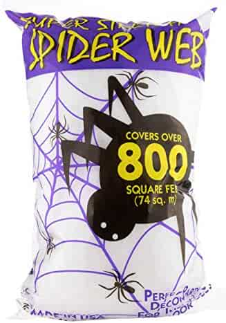 Fun World Super Stretch Spider Web for Halloween Indoor/Outdoor Decoration 8.4 oz 800sqft