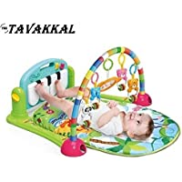 Tavakkal Kick and Play Newborn Toy with Piano for Baby 6-36 Month, Lay and , Sit , Activity Toys, Mat Gym for Baby (Multicolour)