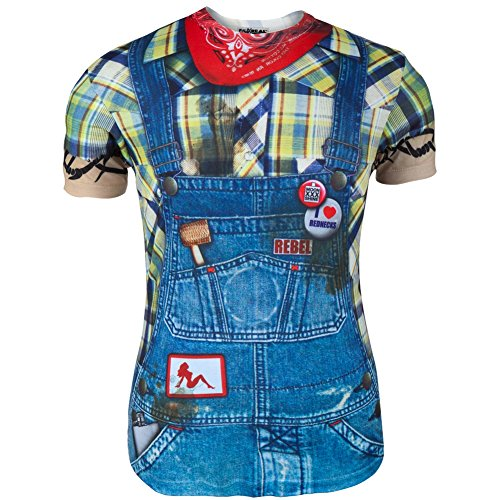 Faux Real - Mens Hillbilly Costume T-Shirt - Small Multi