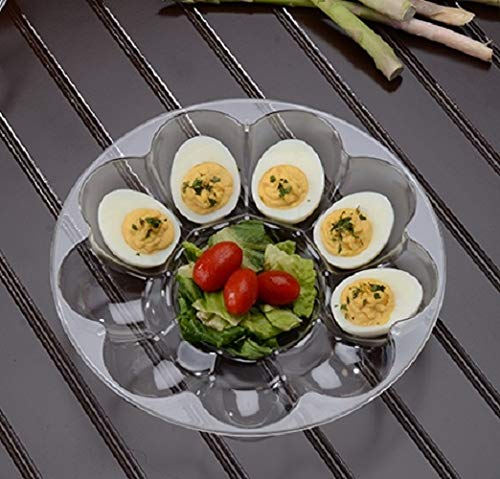 25 Pieces 9'' - 12 Slot Egg Trays Heavy Duty Disposable Devilled Egg Platters in Bulk