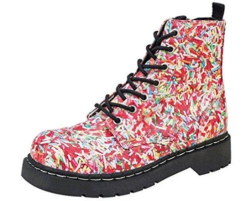 Boots Tuk Rainbow Sprinkles T2239 Ladies T Anarchic Vegan k u Combat xqZttTv
