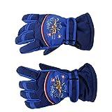 Pair Anti-slip Breathable Winter Warm 8-10 Years Children Kids Ski Skating Gloves Dark Blue