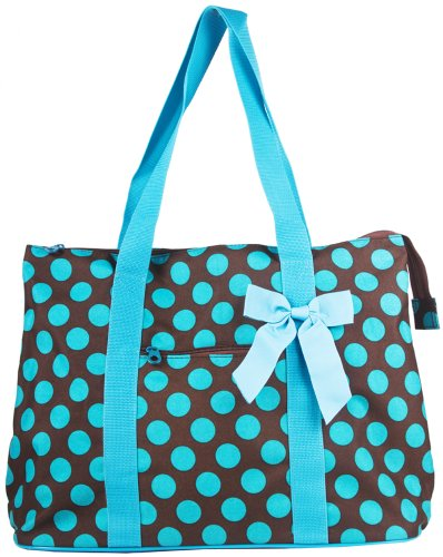 - Ever Moda Polka Dot Tote Bag X-Large