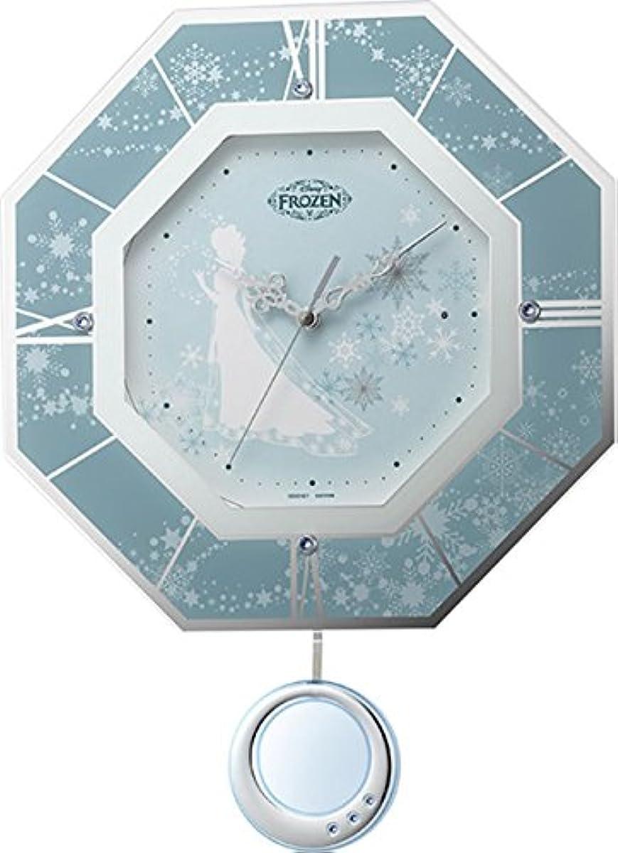 [해외] 디즈니 벽시계 전파 아날로그 겨울왕국 M405 【눈의결정】