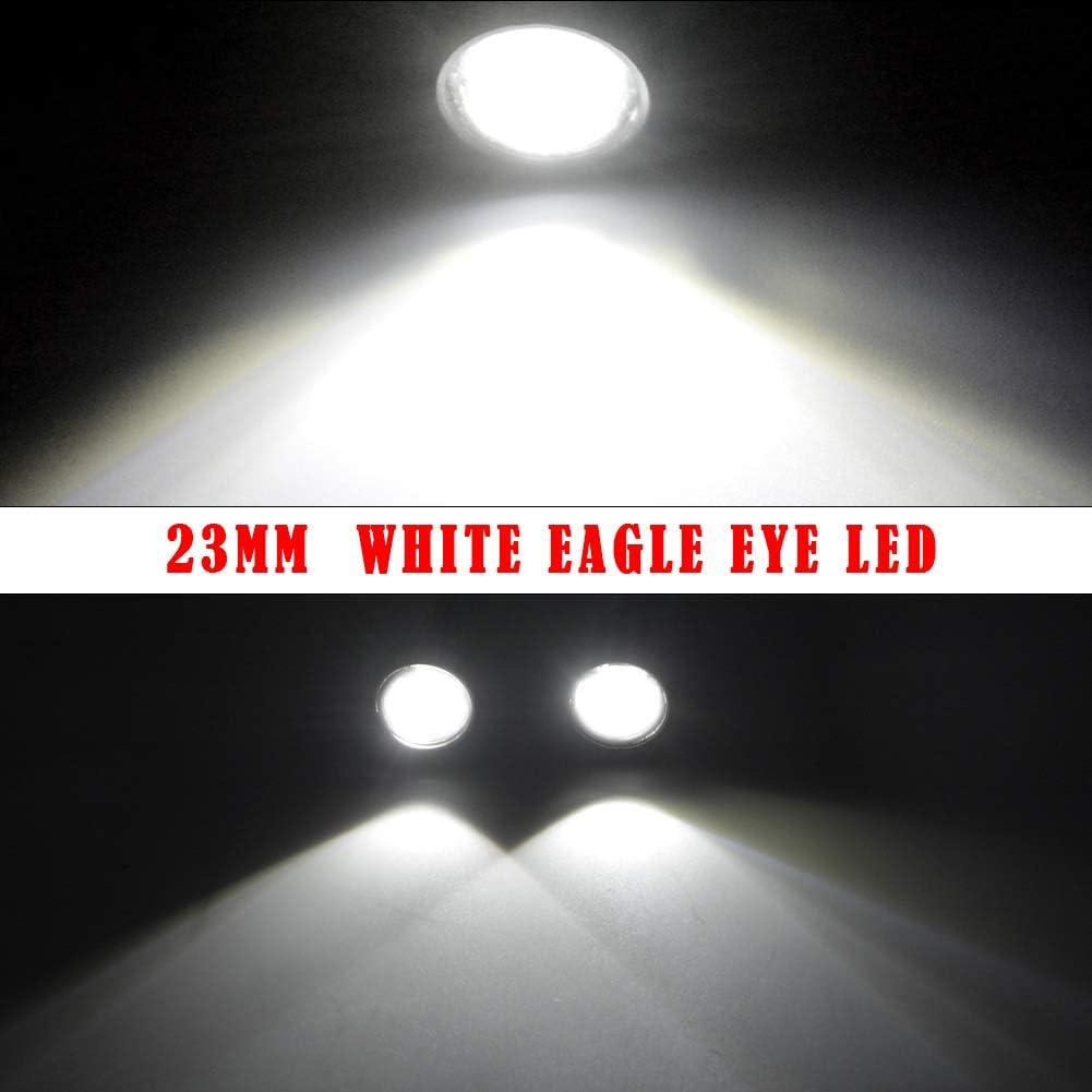 10pcs 9W 12V 23MM LED Eagle Eye Light Car Fog DRL Daytime Reverse Parking Sig CL