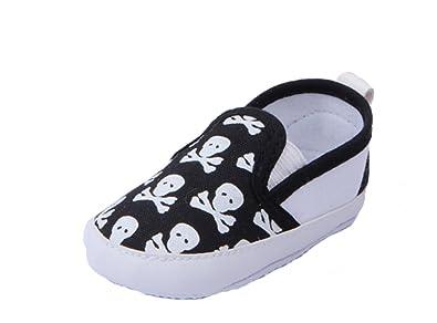 88335cd37a9e1 YL Unisexe de bébé Motif tête de mort première Chaussures de marche des  Mocassins. 3