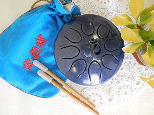 WuYou ॐ Symbol Chakra Drum Mini Tongue Drum Tank Handpan UFO series, Great for Meolodies Theropy (Snapphire) by WUYOU