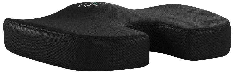 Adiona Orthopedic 100% Pure Memory Foam Coccyx Seat Cushion | Cool Breathable Mesh Cover - Professional Grade for Back Relief - Sciatica and Tailbone Pain - Office Chair and Car Driver Seat Pillow by Adiona