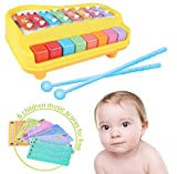 #8: 2-in-1 Xylophone & Piano for Kids with Sheets of Nursery Rhymes and Drums - Musical Instrument Toy For Toddlers and Kids
