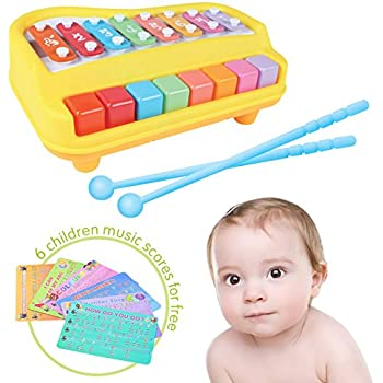 Amazon.com: 2 In 1 Xylophone for Kids, For your Mini