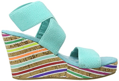 Rocket Dog Gabriel Speedy Gore, Women's Wedge Heels Sandals Turquoise (Speedy Gore)