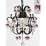 SACS MAX:60W Traditional/Classic Crystal Painting Metal Chandeliers Bedroom / Dining Room / Study Room/Office / Hallway , 110-120v #591