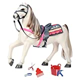 """Our Generation Fjord Norwegian Horse and Accessories for 18"""" Dolls"""
