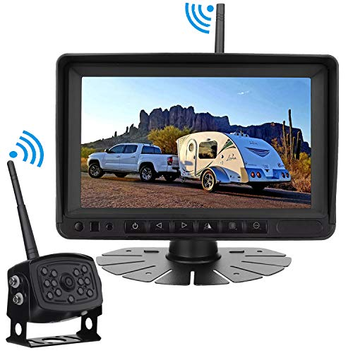 """Rohent Digital Wireless Backup Camera High-Speed   Observation System for Car/Pickup/RV/Truck/Trailer/Camper/5th Wheel with 7""""HD Monitor IP69K Waterproof Night Vision Continuous/Reverse Use"""