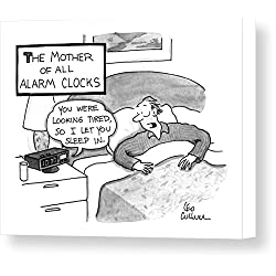 The Mother Of All Alarm Clocks by Leo Cullum, New Yorker, July 20th, 1992, Canvas Print