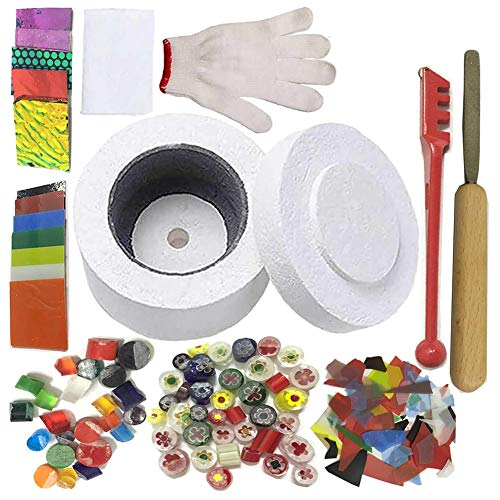 Mold Kiln Glass Frit Fusing - Professional Microwave Kiln Kit Set - for DIY Jewelry Glass Fusing Kiln tools 10 Pcs Set
