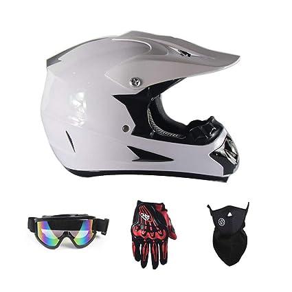 LICIDI Casco de Motocicleta Cascos Cruzados Casco de Seguridad Motocross Casco para Moto Crossbike Off Road
