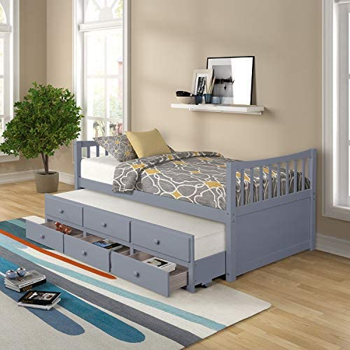 Merax Captain's Platform Storage Bed