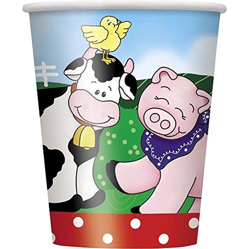 9oz Farm Party Cups, 8ct