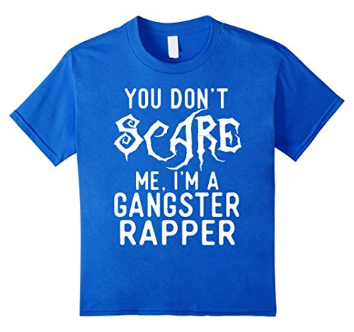 Clever Halloween Costumes Idea (Kids Funny Gangster Rapper Shirts Halloween Costume Joke Gag Gift 8 Royal Blue)