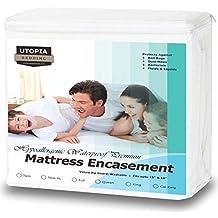 Utopia Bedding Premium Zippered Waterproof Mattress Encasement Cover with Bed Bug & Waterproof Mattress Encasement (King)