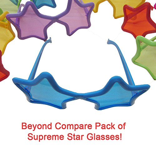 Toy Cubby Party Favor Kids Star Shaped Sunglasses - 12 - Sunglasses Shaped Star