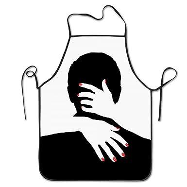 Sexy Lady Hug - Delantal de cocina, color negro, para mujer, con dedos