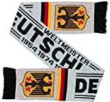 Germany Deutschland Soccer Knit Scarf White (Matches Jersey)