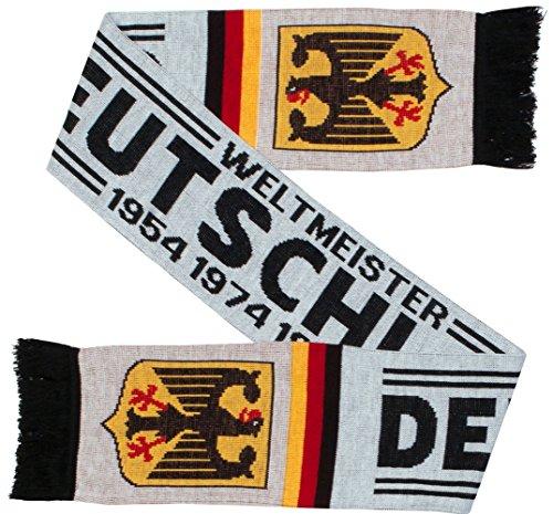 Deutschland Germany Soccer Knit Scarf (White, Matches Jersey)