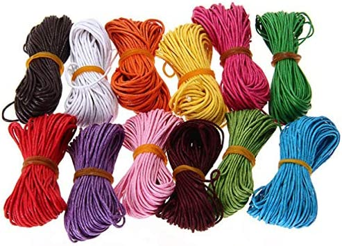 Healifty Cordón de Algodón 12 Colores 1Mm Hilo Rebordear Cordón ...