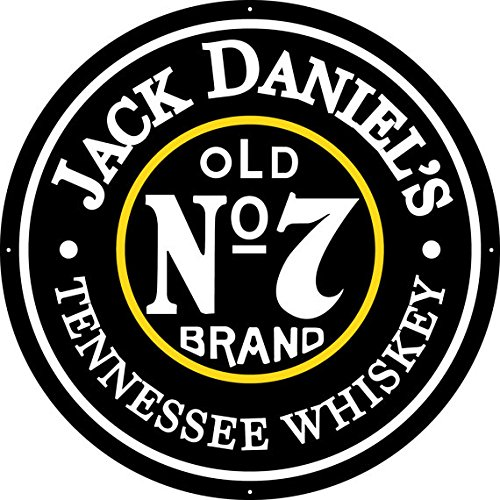 Jack Daniel's Old No. 7 - Large Aluminum Sign - 35'' Diameter by Jack Daniel's