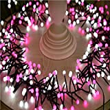 Christmas Rattan Lights,Amamary88  2018 New 1 Set 400 PCS Small White Pink Light Festival Christmas Party Decoration LED Firecracker Lights Curtain Lights
