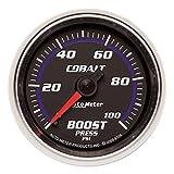 Auto Meter 6106 Cobalt 2-1/16'' 0-100 PSI Mechanical Boost Gauge