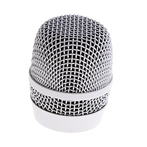 - MagiDeal Durable Steel Wireless Handheld Microphone Replacement Mesh Grill Head Mic Accessory Silver