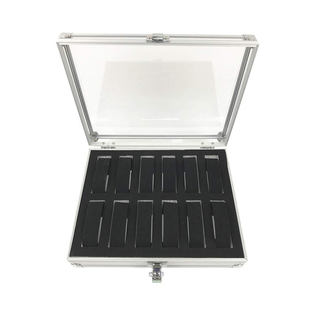 Chirpa 6/12 Grid Slots Wrist Watches Display Storage Box Aluminium & Plastic Organizer