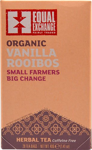 Equal Exchange Organic Herbal Tea Vanilla Rooibos -- 20 Tea Bags
