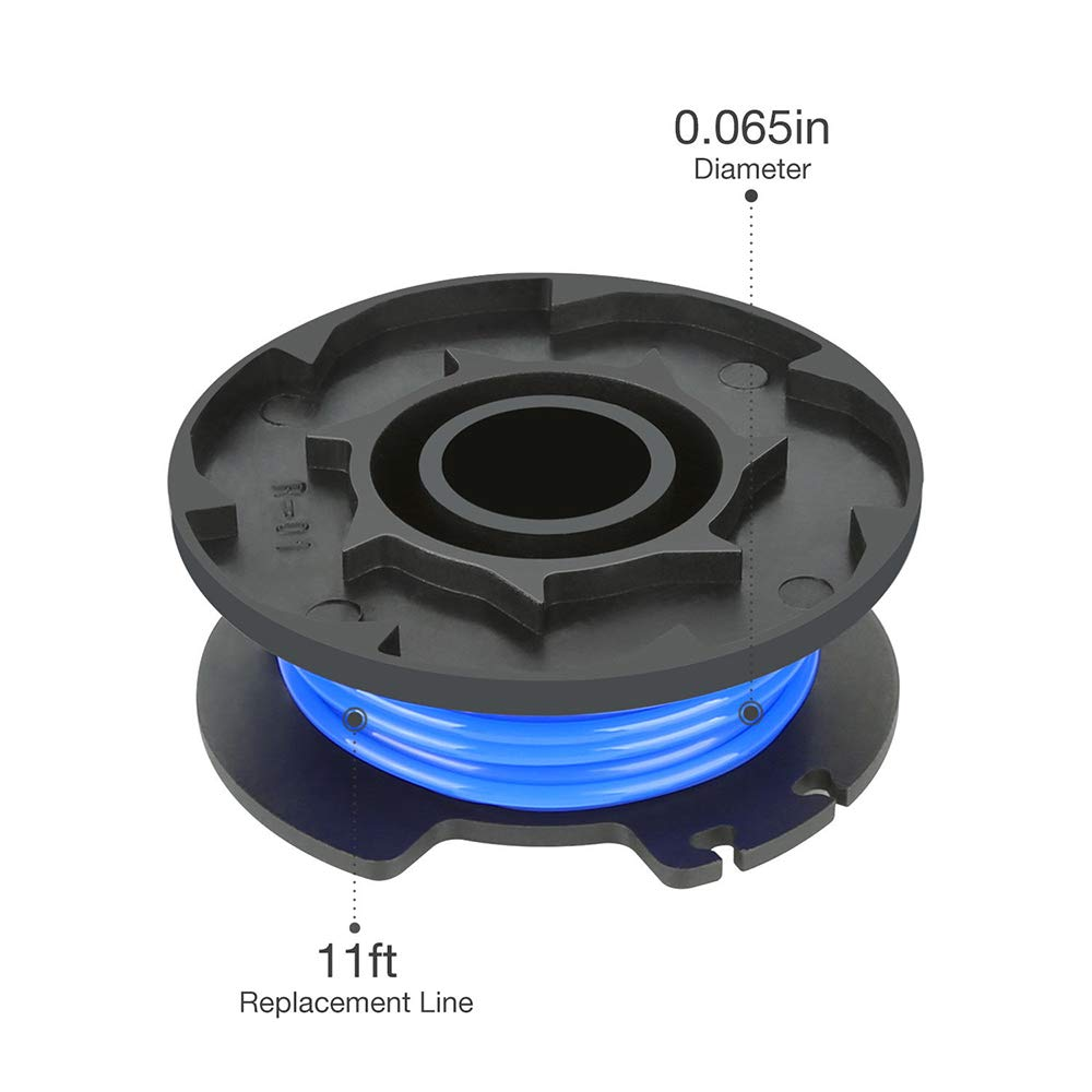 24 V und 40 V kabellose Trimmer Nylon Ersatzspule f/ür Ryobi 18 V 4er-Packung schwarz//blau TJW Ersatzspule f/ür Rasentrimmer